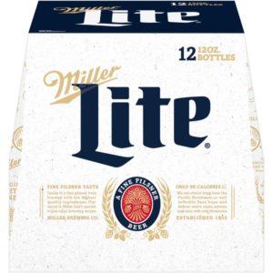 Miller Lite Lager Bottles