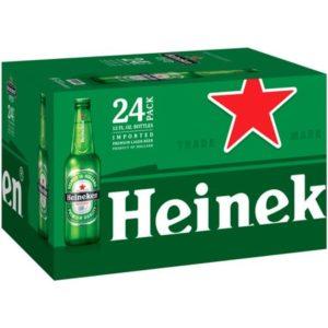 Heinken Bottles 12Oz 24Pk 24L